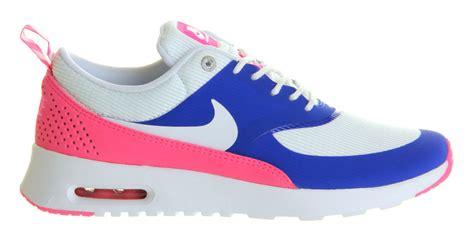 shoes cheap nike air max thea white pink blue
