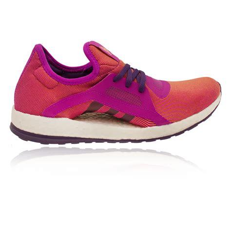 adidas pureboost  womens orange purple sneakers running shoes trainers ebay