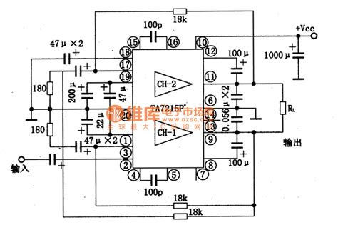 ta7215p dual track audio power lifition integrated circuit lifier circuits audio