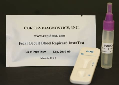 Occult Test For Blood In Stool by Fecal Occult Blood Rapid Test Cassette Fda Ce 818 5913030 Usa