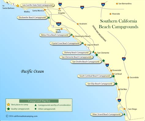 california map of beaches map of southern california beaches california map