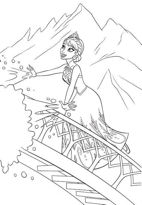 elsa coloring sheet elsa coloring new calendar template site