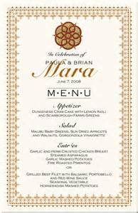 paisley buddhist hindu wedding menu cards indian menu card