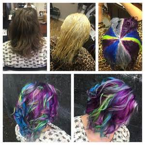 how to dye hair two colors top and bottom 1000 images about hair on blue hair purple