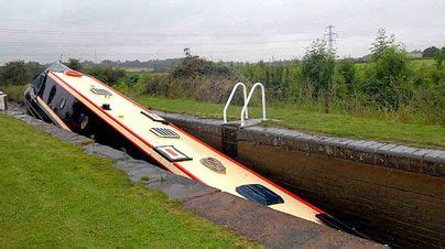 party boat worcester narrowboat wedged on canal lock narrowboats pinterest