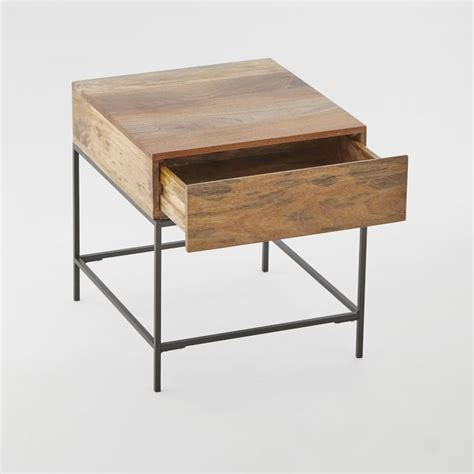 industrial storage pop  coffee table skinny console