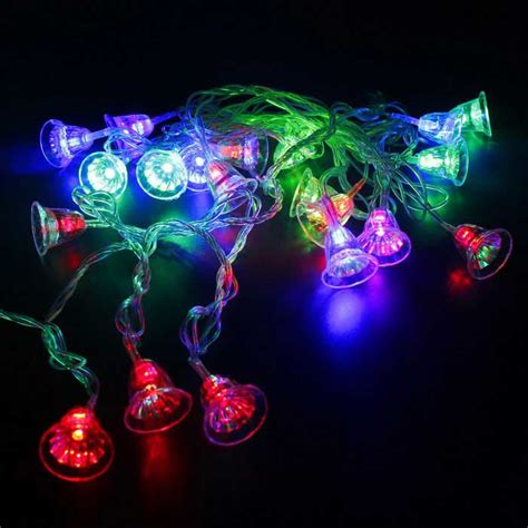 Colorful Twinkle 15 4ft led colorful 20 led w transparent bell twinkle lights string free shipping dealextreme