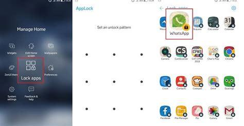 mengunci aplikasi whatsapp  tidak bisa dibuka