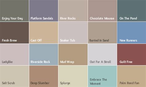 benjamin color chart color company colour