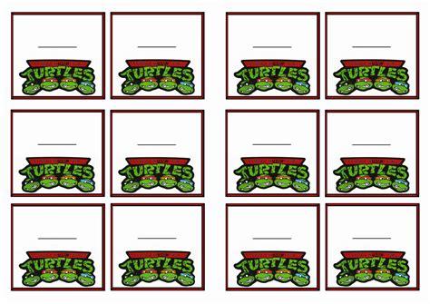 teenage mutant ninja turtles table and teenage mutant ninja turtles name tags birthday printable