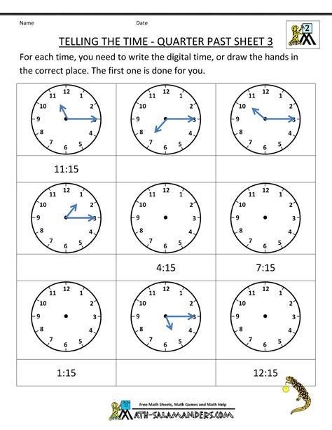 clock worksheets quarter hour clock worksheet quarter past and quarter to