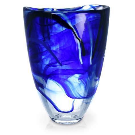 Kosta Boda Vase by Kosta Boda Contrast Vase Blue