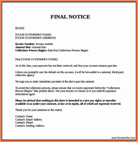 Payment Reminder Letter Exle invoice collection letter exle 28 images 10 best