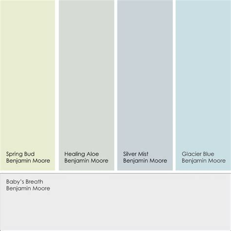 complimentary paint color schemes colors that work with cool white benjamin moore s baby s