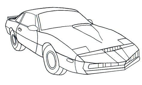 coloring pages knight rider kitt sketch by favoriteartman on deviantart