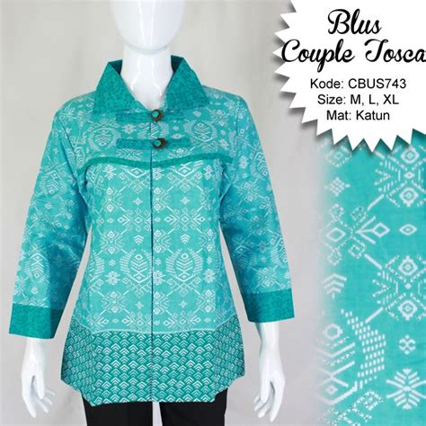 Baju Atasan Baju Pria Baju Murah Baju Catenzo Ps 153 baju batik sarimbit blus katun etnik blus lengan panjang murah batikunik