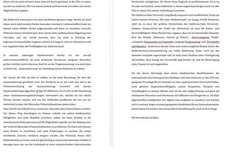 Motivationsschreiben Bewerbung Architektur motivationsschreiben stipendium f 252 rs auslandssemester