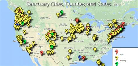 united states map of sanctuary cities map reveals 300 sanctuary cities keeping 17 000