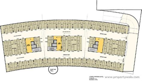 parking floor plan dev exotica kharadi pune residential project