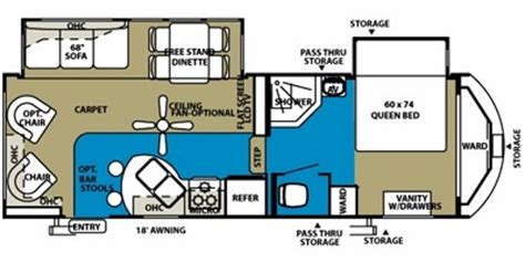 5th wheel cer floor plans wildwood fifth wheel floor plans 2010 forest river wildwood heritage glen 246rlbs