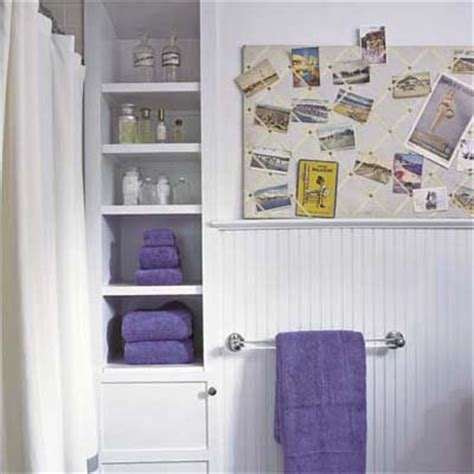 build into a bathroom wall smart storage solutions