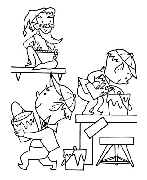 coloring pages of elves and santa the holiday site christmas elf coloring pages