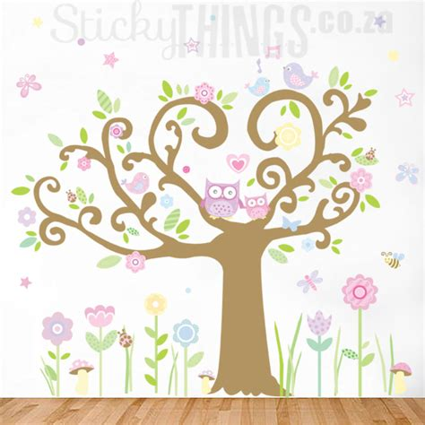 owl tree wall stickers owl tree wall sticker south africa sticky things