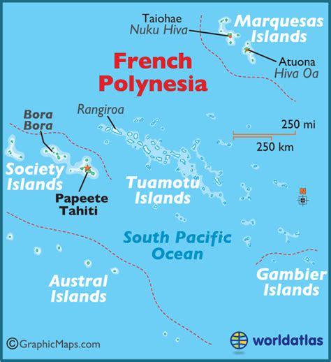 map of tahiti polynesia large color map