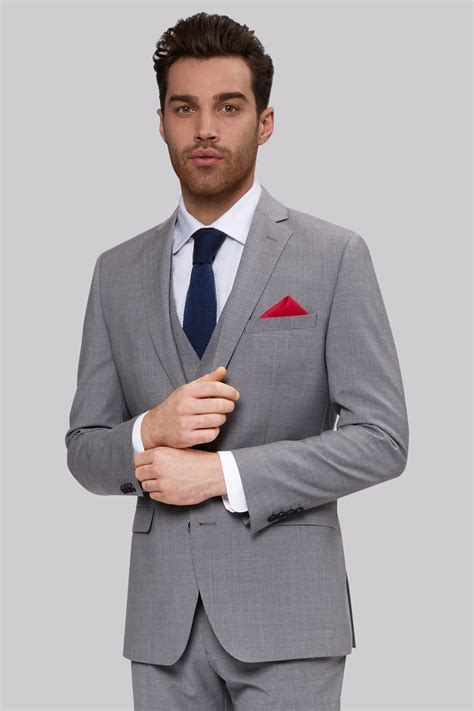 light grey suit moss 1851 performance tailored fit light grey jacket