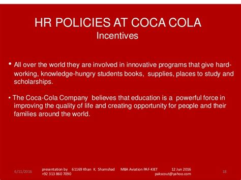 Coca Cola Mba Rotational Program by Cocacola Show