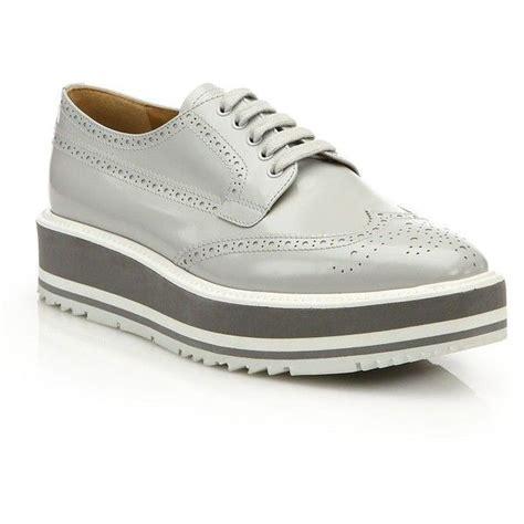 Flat Shoe Crc prada leather platform wingtip brogues 517 090 crc liked