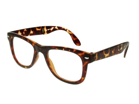 folding tortoise shell frame reading glasses with pouch