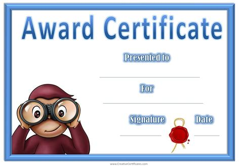 best photos of free printable award certificate templates