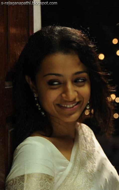 trisha hair in vtv trisha white vtv saree sarees i love pinterest white