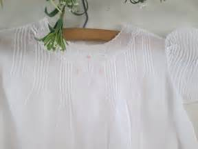 Handmade Vintage Clothing - handmade vintage baby clothes white and pink by