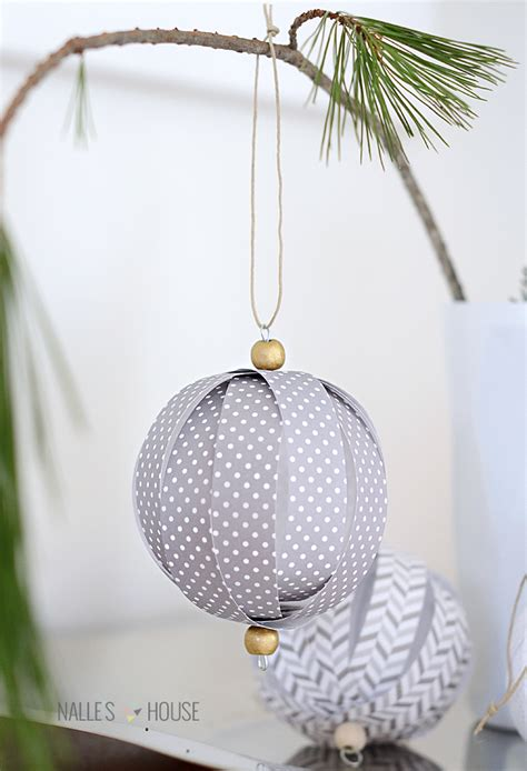 How To Make Paper Balls For Decoration - nalle s house diy paper ornaments
