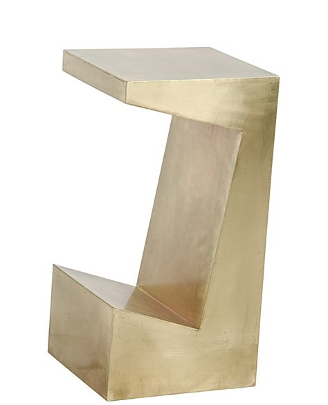 brass side table small modern abstract brass side table mecox gardens