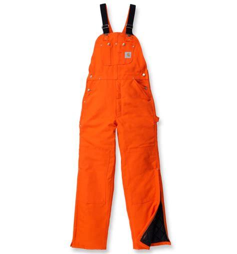 Carhartt Quilt Lined Duck Coveralls by Carhartt R02 Duck Bib Overall Quilt Lined Blaze Orange