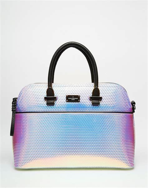 pauls boutique maisy handbag in holographic hologram 163 70