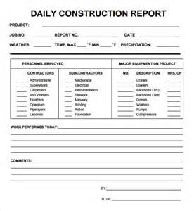 Daily Report Template daily report 7 free pdf doc sle templates