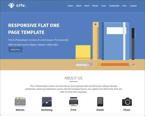 crtv responsive flat one page html5 template