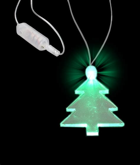 green light tree green light up tree charm pendant led necklace