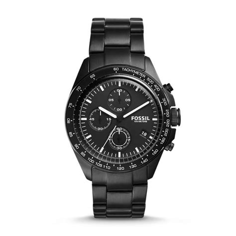 Grant Sport Chronograph Stainless Steel And Wallet Box Set sport 54 chronograph black stainless steel fossil