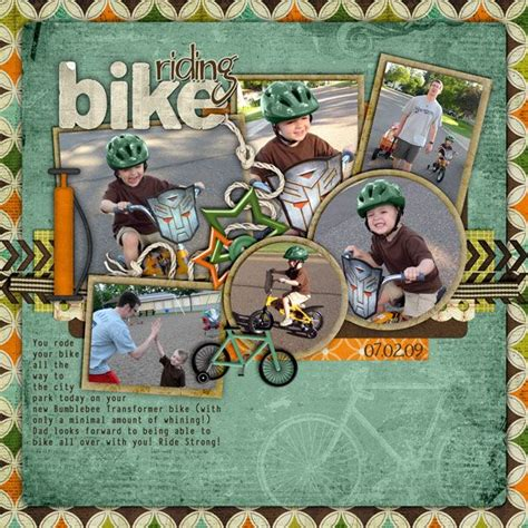 scrapbook layout cycling 59 best scrapbooking bicycles images on pinterest