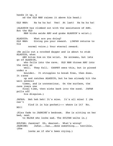 Missing Man Table Script Aladdin Script