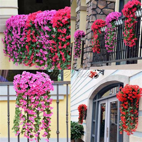 5pcs artificial flowers hanging orchid