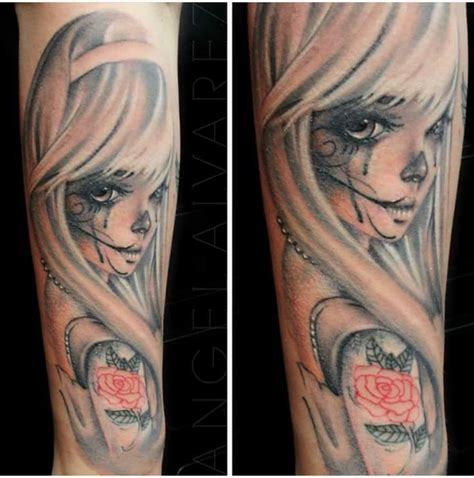 dead girl tattoos tattoos tatted sugar skull tats ink anime asian day