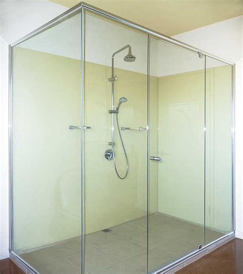 semi ensuite bathroom glass splashbacks colour geelong splashbacks kolor