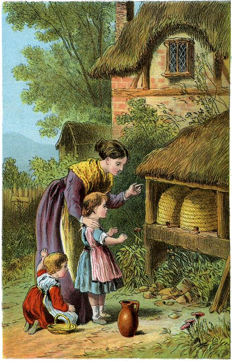 antique beehives image  graphics fairy