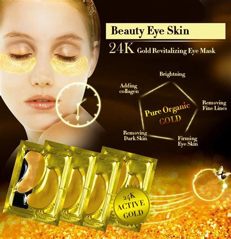 gold crystal collagen  eye mask  beauty secrets usa